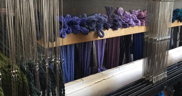 warping a loom front to back