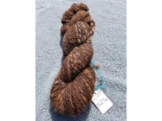 Alpaca yarn - Skein 11 -dark brown with touches of golden brown