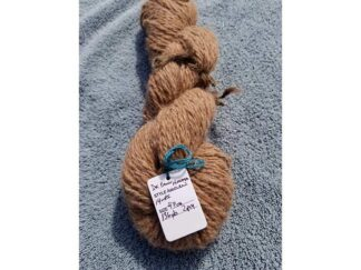 Alpaca yarn skein 5 -golden brown