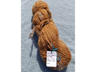 Alpaca yarn - Skein 7 -golden brown with touches of light tan