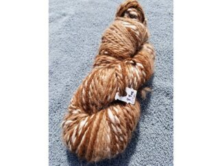 Alpaca yarn - Skein 12 -golden brown, cream and light tan