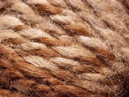Alpaca yarn - Skein 12 -golden brown, cream, and light tan - detail 2