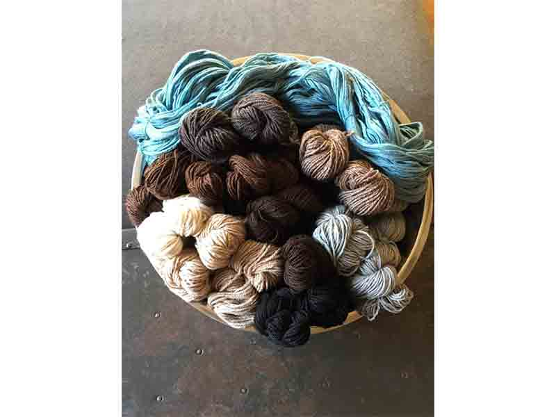 First, pick a palette. Lovely natural shades of alpaca, with just a touch of color.