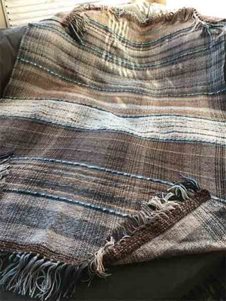 Sublime blanket woven from prime alpaca fleece yarn